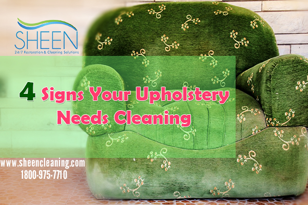 4 Signs Your Upholstery Needs Cleaning
