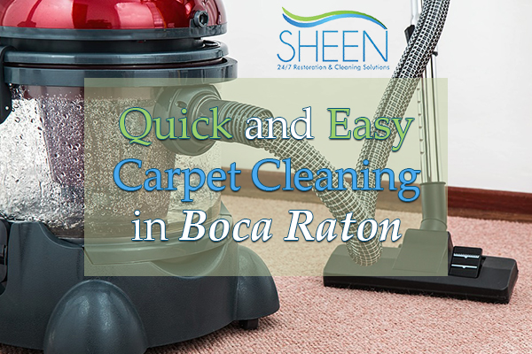 Quick and Easy Carpet Cleaning in Boca Raton